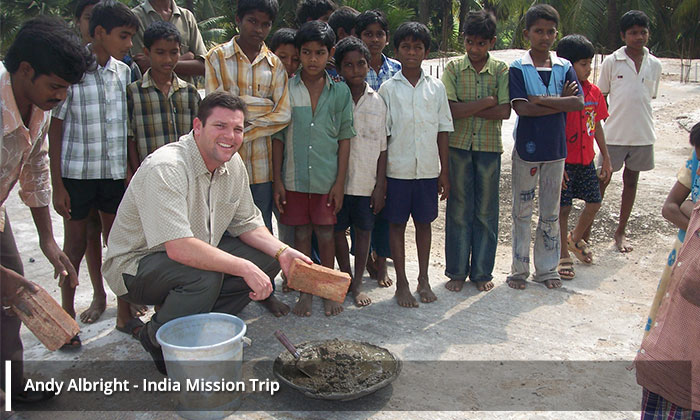 Andy Albright India Mission Trip